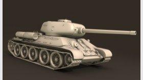 Tank T-34 3d