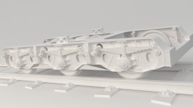 Train Railway Bogie 3D Model 4-2