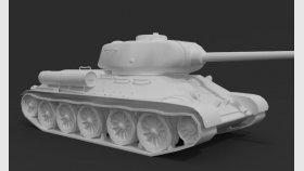 Lowpoly Tank T-34 3d