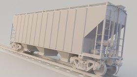 Grain Covered Hopper 3D Model S 27