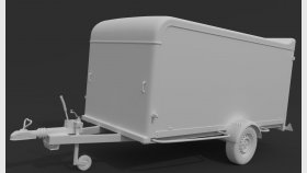 Camping Trailer 3D Model