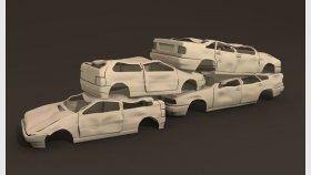 Scrap Car 3D Models 1