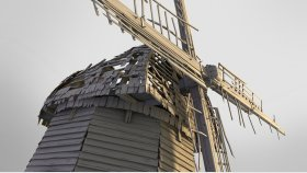 Old Abandoned Windmill 3D Model