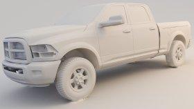 Pickup ram 1500 Laramie Longhorn 3d