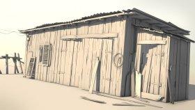 Old Farm Barn 3D Model