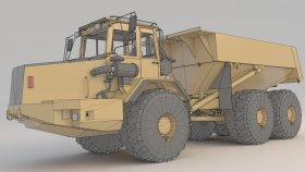 Dump Truck Articulated A30 Lowpoly game (1)