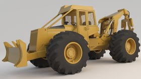 Forestry Equipmen 450 Heavy Equipment 3d (1)