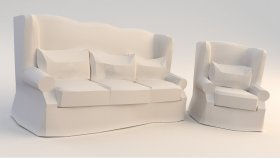 3d Sofa Chair Low (102)