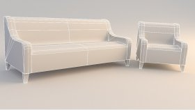 3d Sofa Chair Low (68)