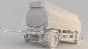 Fuel Tank Fuel Oil trailer Low 3d (1)