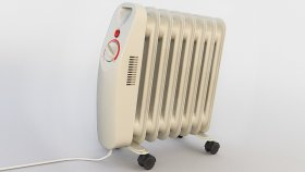 Radiator Electric Oil Filled Convection Heater 3d (5)