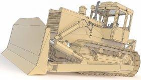 Bulldozer T130 Low 3d (2)
