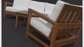 Wooden Furniture Garden Sofa Chair 3d abd Textures