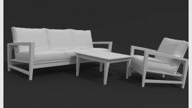Wooden Furniture Garden Sofa Chair 3d